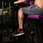 Lifting of socks sitting. Pump your calf muscles